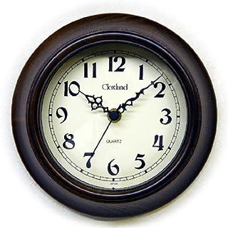 さんてる(Suntel) 掛け時計 アンティークブラウン Φ17.5×4.5cm