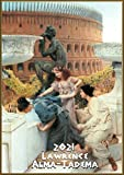 "Wall Calendar 2021 [12 pages 8""x11""] Antique Rome Greek Life Scenes by Lawrence Alma-Tadema Vintage Painting"