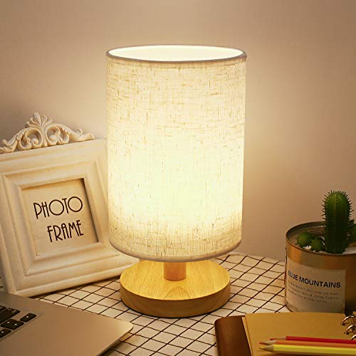 Lámpara de mesita de noche, lámparas de dormitorio LED regulables por USB, lámpara de mesa...