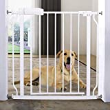 Walk Through Baby Gate Auto Close Metal Child Toddler Pet Safety Gates Fence Guard with Pr...