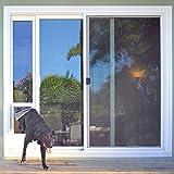 "Ideal Pet Products 96"" Fast Fit Aluminum Pet Patio Door, Medium, 7"" x 11.25"" Flap Size, Mill (Silver)"