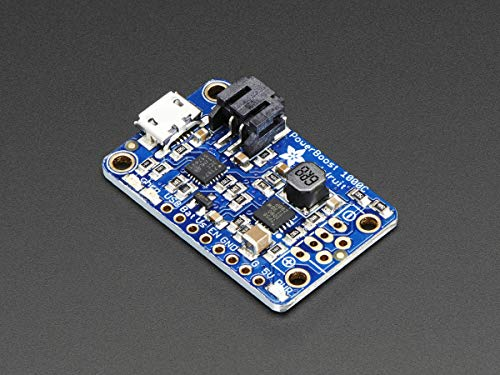 Adafruit Powerboost 1000charger–rechargeable 5V LiPo USB Boost @ 1a–1000C [ADA2465]