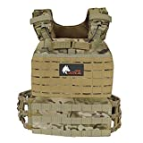 WOLF TACTICAL Adjustable Weighted Vest – WODs, Strength and Endurance Training, Fitness Workouts,...