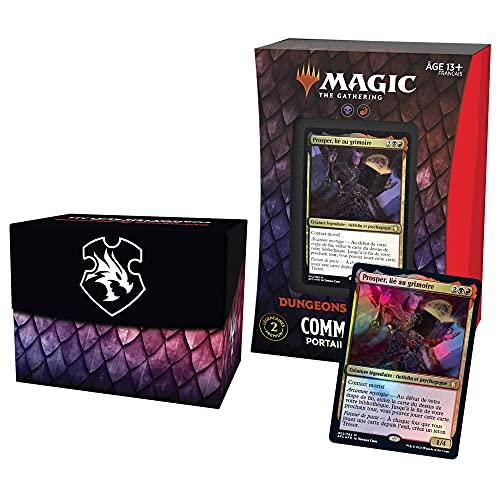 Magic: The Gathering- Deck Commander Forgotten Realms : Aventures dans Les Royaumes Oubliés – Portail planaire (Rouge-Noir)