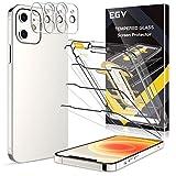 EGV 6 Stück Schutzfolie Kompatible mit iPhone 12 mini, 5.4 Zoll, mit 1 Stück Null Fehler Positionierhilfe,3 Folie und 3 Kamera Schutzfolie, 9H Härte, HD Klar Displayschutzfolie, Kratzfest, Transparent