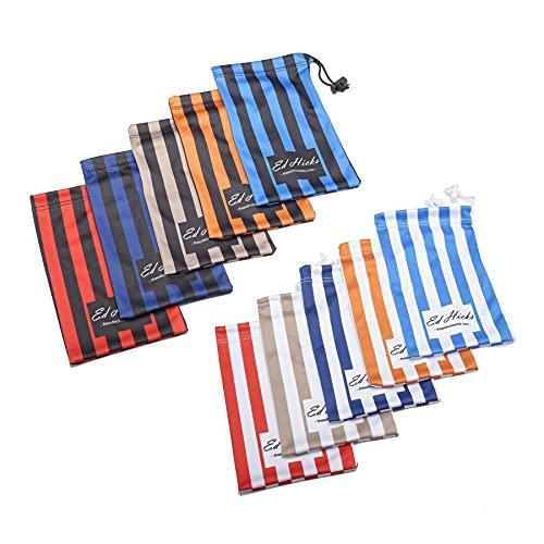 Funda suave para gafas y paño de limpieza en uno – Bolsa de almacenamiento para gafas de sol, teléfonos, cables, etc. – Microfibra premium para limpieza sin químicos – 5 Pack - - Medium