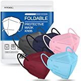 KN95 Face Mask 25 PCs, WWDOLL Multiple Colour 5 Layers KN95 Masks, Dispoasable Masks Protection for Women and Men(Pink, Green, Grey, Red, Purple)