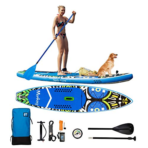 FAYEAN Inflatable Stand Up Paddle Board Cruise SUP ISUP Board 11'x33 x6 Thick Includes Hand Pump, Paddle, Backpack, Fin, Coil Leash and Universal Waterproof Case