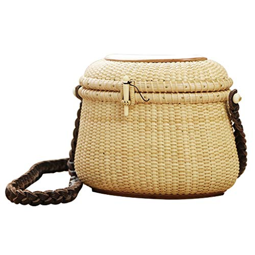 Panier de Rangement, tissé à la Main, délicat, Portable, cosmétique, résistant aux Insectes, Durable ZHJING