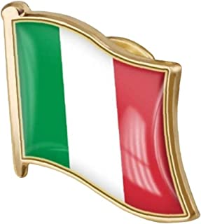 1pc Italiana Bandiera Pin Badge di Metallo Spilla Spilla Italiana Bandiera Nazionale Emblema Badge Accessori novità