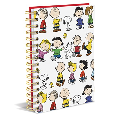 "Graphique Peanuts Gang Hard Cover Journal w/Charles Shultz's Beloved Peanuts Characters, Fun, Durable Notebook for Notes, Lists, Recipes, and More, 160 Ruled Pages, 6.25"" x 8.25"" x 1"""