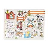 Puzzles de Madera Magnéticos Juquetes Infantil Juquetes Educativos para Niños y Bebes Juquetes para Conocer Números Frutas Animales(2# Animales)
