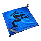Frogger Golf Amphibian Wet/Dry Golf Towel, Blue/Black
