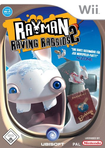 Wii Game Rayman Raving Rabbids 2 allemand
