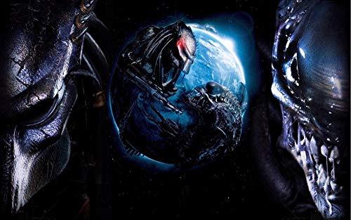 XHJY Película Aliens Vs. Réquiem Depredador Rompecabezas De para Adultos, Niños, Adolescentes, Niñas Y Niños, Regalos De Cumpleaños Populares-1000 Piezas(75 x 50 cm)