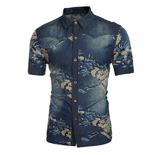 Cloud Style-tee-shirt casual-tee-shirt été-imprimé- Manches courts- Homme