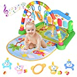 WYSWYG Baby Play Mat for Floor, Baby Play Gym Activity Mat, Infant Toys 0+ Months, Kick and Play Piano Gym Activity Center for Baby with Music and Light
