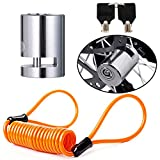 BUENNUS Portable Motorcycle Disc Lock,Anti Theft Disk Brake Lock with Reminder Cable for Motorcycle Bicycle Wheel Compatible for Harley Triumph Tiger Ducati Honda Yamaha BMW Suzuki