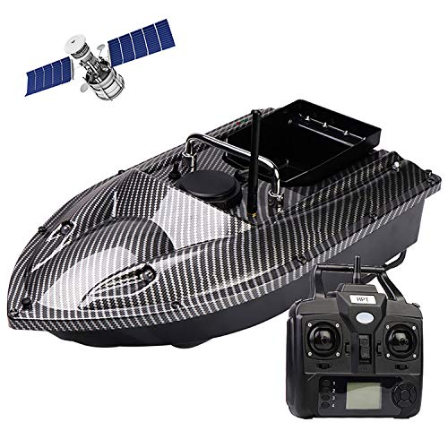 JJIIEE 500M Distance Bait Boat,2.4Ghz RC Fishing Bait Boat with LED Night...