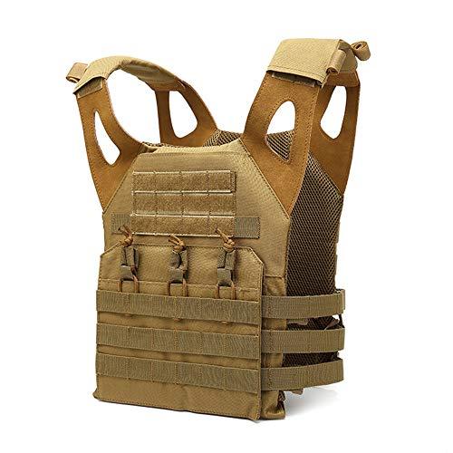 tactical vest for women GXYWAN Tactical Vest, Field Special Forces Multi-Functional Protective Vest (Beige)