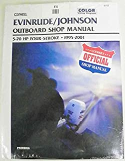 Clymer Shop Manual Evinrude Johnson 5 - 70 Hp 4 Stroke outboards 1995-2001 WSM B753