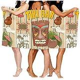 chillChur-DD Bath Towel Tiki Bar Poster Totem Badetücher,