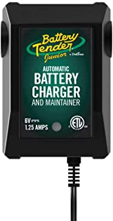 Battery Tender Junior 6V, 1.25A Battery Charger and Maintainer: Fully Automatic 8V Automotive Battery Charger for Cars, Motorcycle, ATVs, and More - SuperSmart Battery Chargers - 022-0196