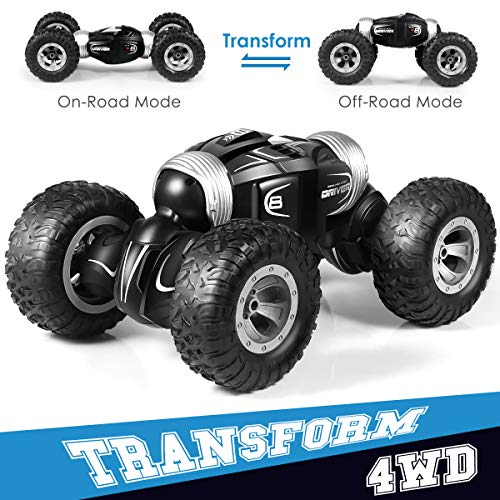 RC Car, Remote Control Stunt Toy Car for Kids - 2.4Ghz Off Road RC Trucks 4WD High Speed Off Road Electric Racing Car for 3 4 5 6 7 8-12 Year Old boy Toys