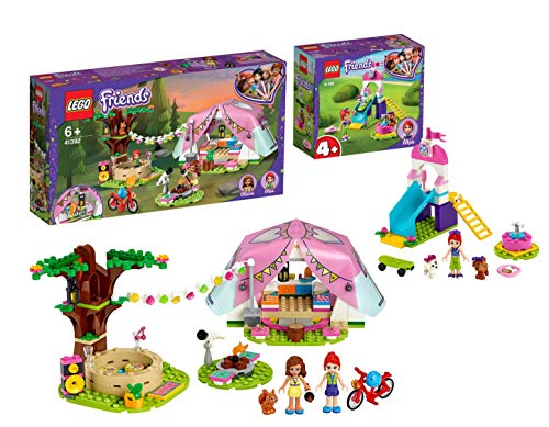 Legoo Lego Friends-Set: 41392 - Camping in Heartlake City + 41396 - Welpenspielplatz, ab 4 Jahren