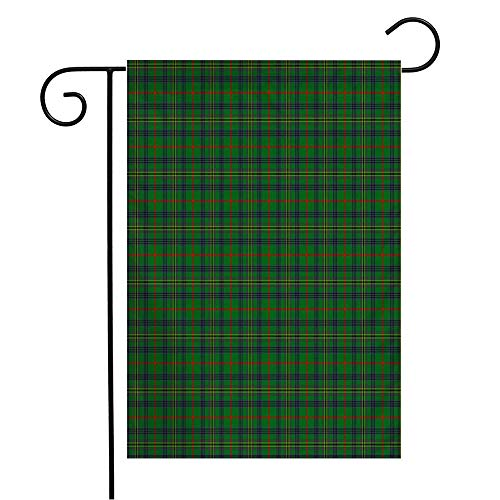 Anmbsk Garden Flag Welcome Flag Vintage Blue Patterned Clan Kennedy Kilt Tartan Abstract Green Celtic Checkered Christmas Classic 12x18 Inch Yard Flag Farmhouse Spring Summer Home House Lawn Decor