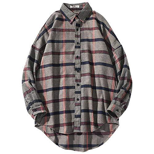 NOBRAND lente mannen geruite shirt mode casual mannen reversstandaard kraag lange mouw mannen comfortabele shirt tops