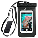 Voxkin Premium Quality Universal Waterproof Case with Armband, Compass, Lanyard - Best Water Proof, Dustproof, Snowproof Pouch Bag for iPhone 7, 6S, 6, Plus, 5S, Samsung Galaxy Phone S7, S6