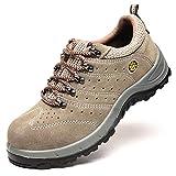 Willsky Zapatos De Seguridad para Hombres, Zapatos De Trabajo Transpirables Zapatillas De Seguridad con Puntera De Acero Zapatillas De Deporte Ligeras Antideslizantes para Caminar,39