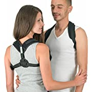 EaseRight Posture Corrector for Women & Men Relieves Neck and Shoulder Pain- Improves Bad Posture - Adjustable -Discreet & Comfortable Under Clothes- Upper Back Posture Brace to Stop Slouching