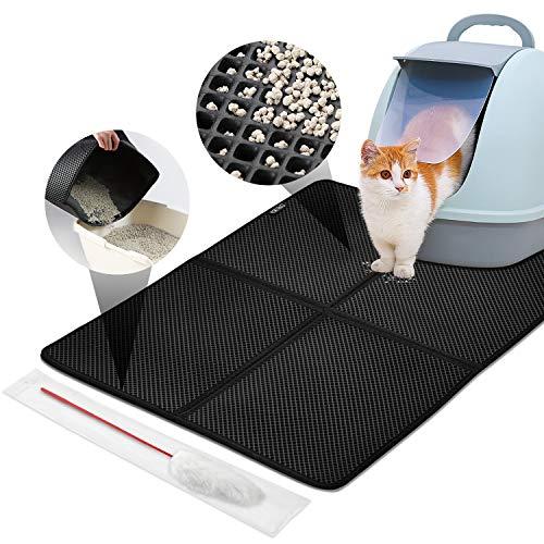 LOETAD Cat Litter Mat Estera de Arena Gato Impermeable y