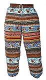 kailash Elefanten Pantalones Harén Mujer Hippie Goa Comercio Justo carbón S-M