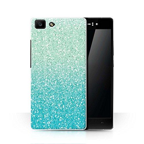 Hülle Für Oppo R5 Glitter Muster Effekt Minze Ombre Design Transparent Ultra Dünn Klar Hart Schutz Handyhülle Case