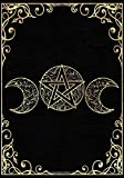 Book Of Shadows: Blank Lined Journal, Empty Grimoire Journal, Triple Goddess Gold Cover (7'x10', College Ruled, 110 Pages)
