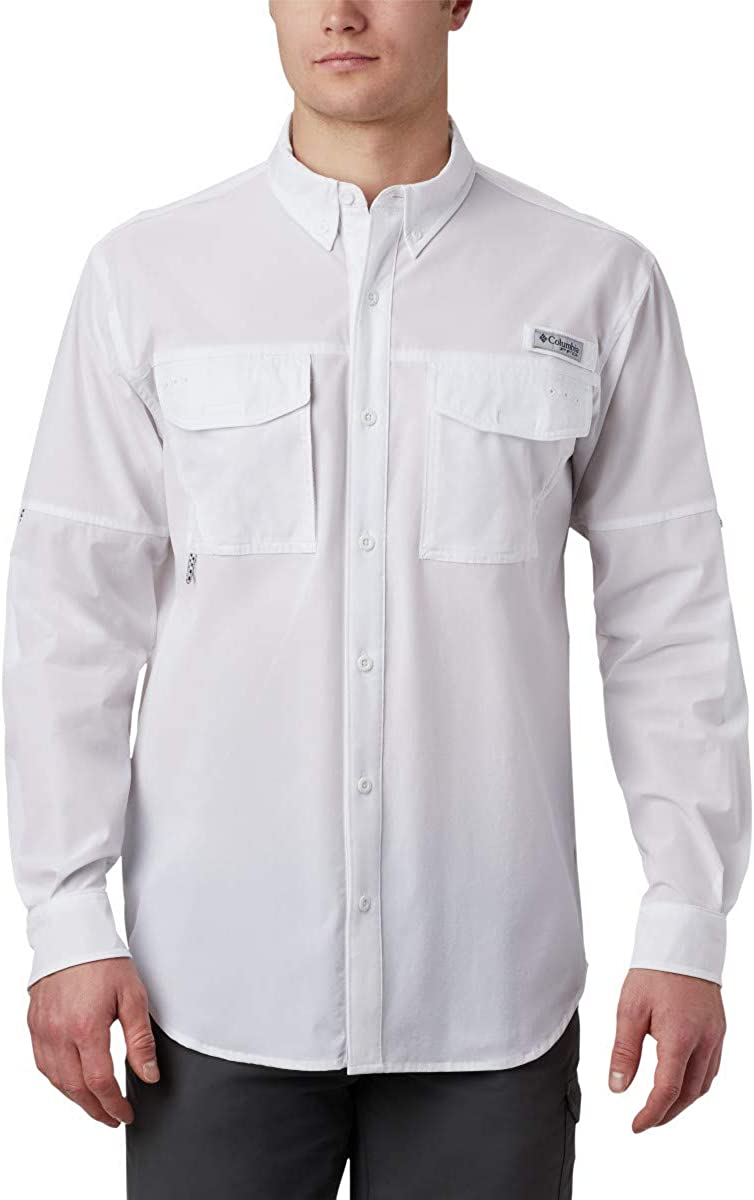 Columbia Men's Bombing free shipping PFG Permit Online limited product Woven Sleeve Long Shirt Vented