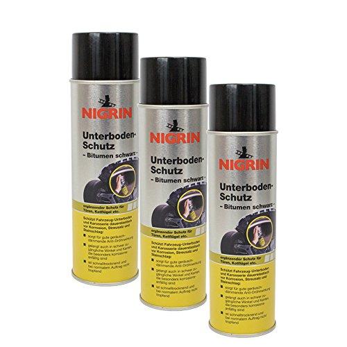 Nigrin 3X 74034 Unterboden-Schutz Bitumen schwarz 500 ml