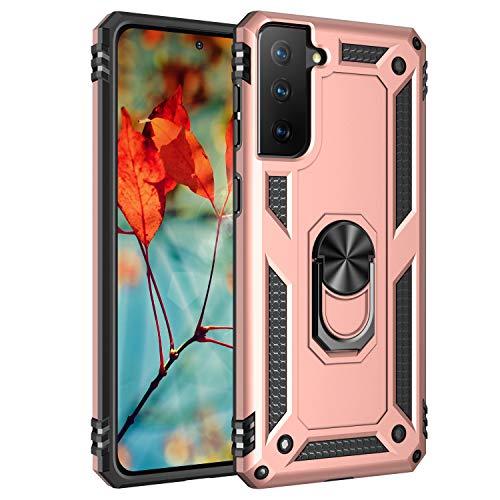 AFARER Hülle Kompatibel Mit Samsung Galaxy S21 5G/Samsung Galaxy S30 Militärische Handyhülle Rosegold