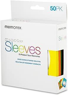 Memorex CD/DVD Sleeves, 50 Pack Colors (32020017730)