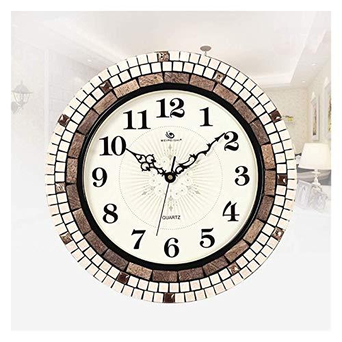 Desktop-Skulptur Uhr stumm uhr wandkunst dekoration hause schlafzimmer wohnzimmer moderne minimalistische uhr mode kreative wanduhr (Color : B)