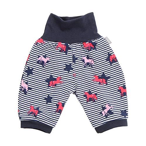Lilakind - Pantalones bombachos 3/4 para bebé, diseño de unicornios y estrellas, color azul y blanco, tallas 50/56-134/140. Fabricado en Alemania. azul, blanco 134-140 cm