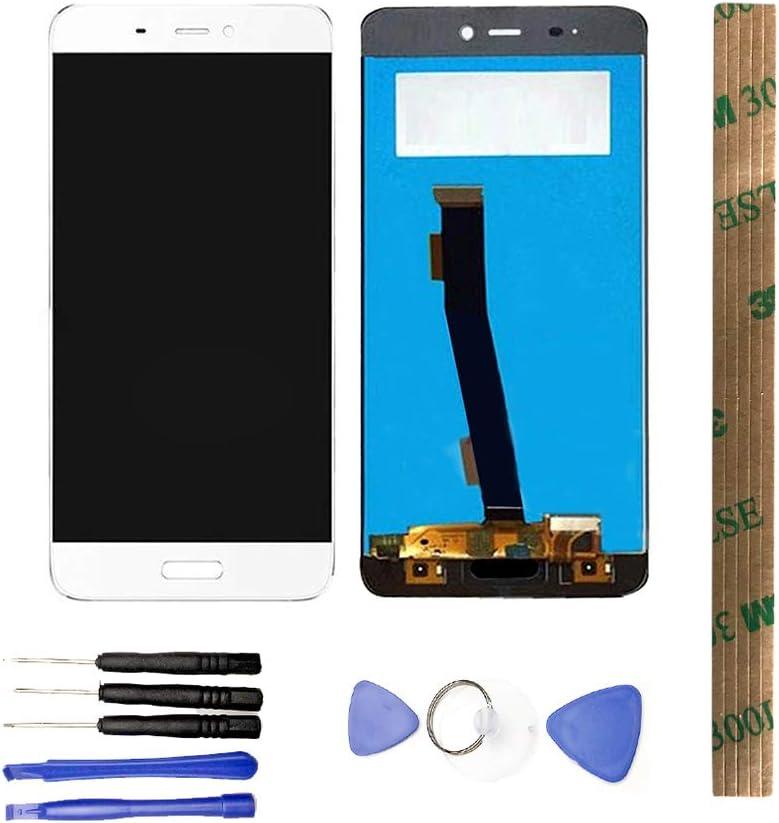 JayTong - visualización LCD y digitalizador de visualización táctil de Repuesto para Xiaomi Mi5 Mi 5 Blanco