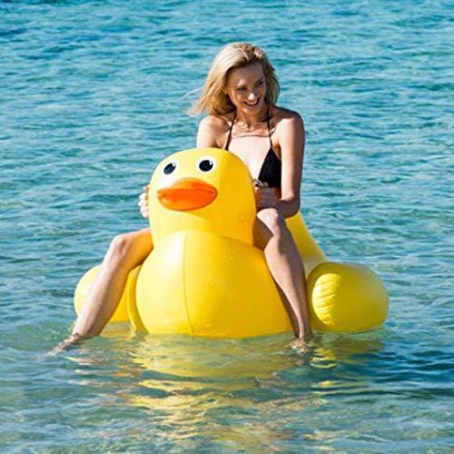 Piscina gonfiabile per il tempo libero Giocattoli Little Yellow Duck Gaint Pool Materasso galleggiante Materassino prendisole Aria Nuoto Anello Cerchio Spiaggia Acqua di mare Giocattoli per feste