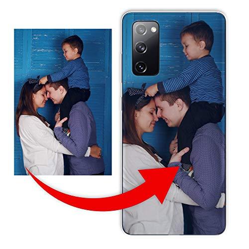 KX-Mobile Personalisierte Hülle für Samsung Galaxy S20 Plus Handyhülle aus Silikon/TPU mit deinem eigenen Motiv - Dein eigenes Bild Selfie Design Foto