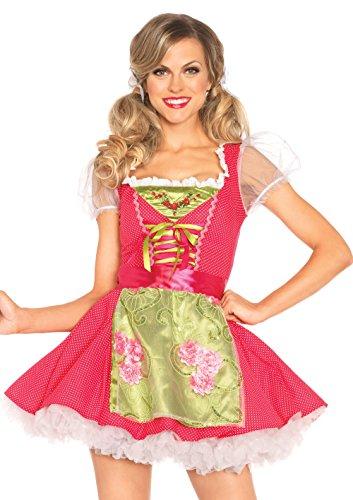 LEG AVENUE 85219 - Beer Garden Gertel Kostüm Set, 2-teilig, Größe XL, rosa