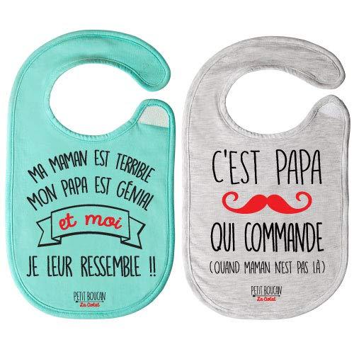 Petit Boucan - lot de 2 bavoirs bébé