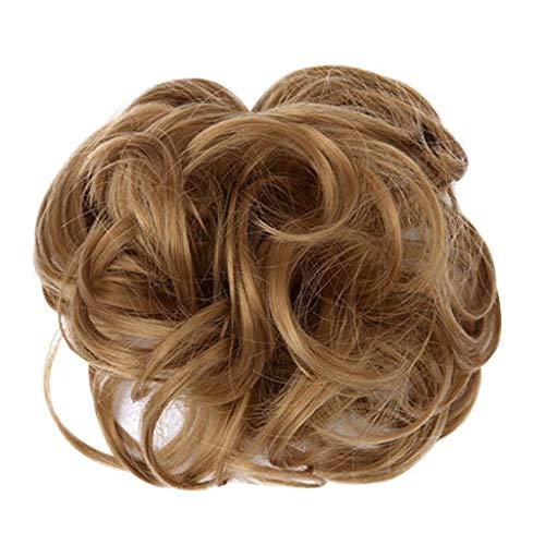 HLUKY Femmes Frisé Désordonné Chignon Cheveux Morceau De Tourbillon Chouchou Perruques Extensions Coiffure Postiche Chouchou Postiche Queue De Cheval Résistant À La Chaleur